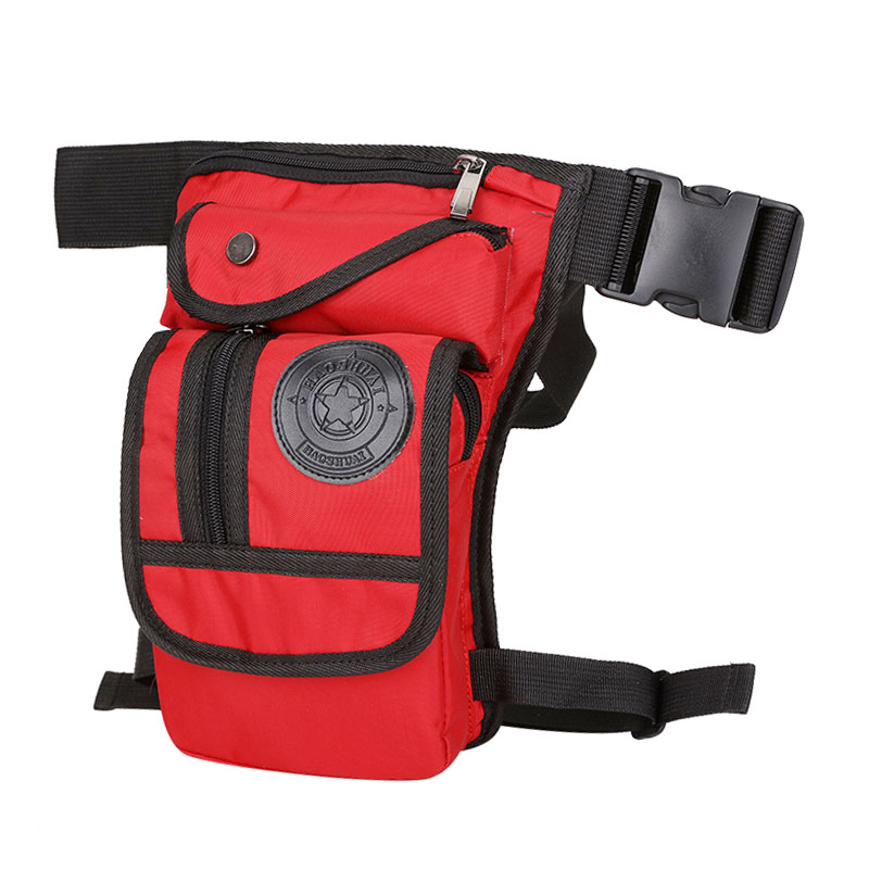 Men 39 s Waterproof Nylon Drop Leg Bag Fanny Waist Pack Thigh Belt Hip Bum Casual Shoulder Bag Military Motorcycle Riding Pouch in Waist Packs from Luggage amp Bags