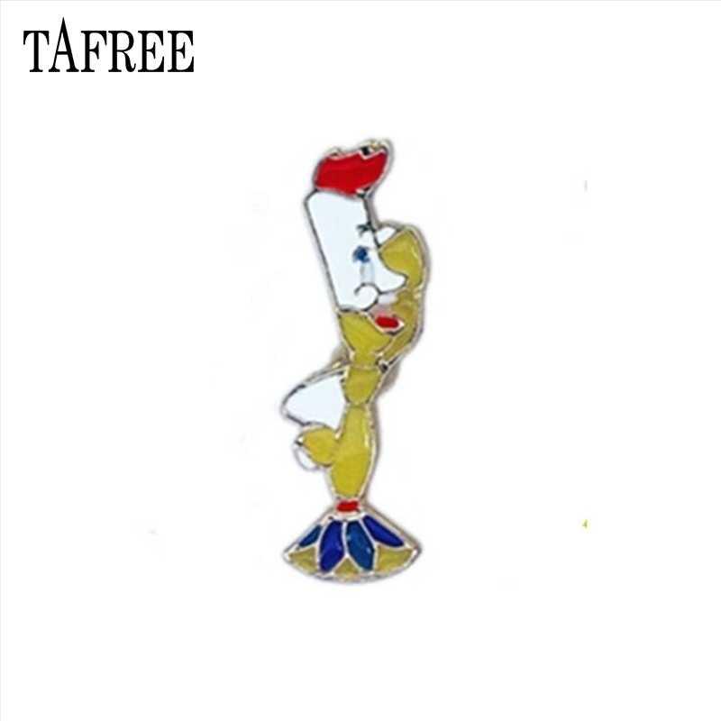 Tafree Kerah Pin Teko Rumah,, rose dan Putri Bros Seri Dongeng Kartun Hewan Lencana Tetes Minyak Perhiasan LP622