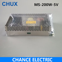200W 5V Switching Mode Power Supply Mini Size MS series (MS 200W 5V) Smaller Volume Single Output LED Power Suppliers 40A