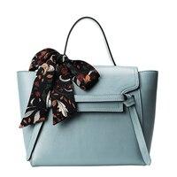 Top handle Bags Women Handbags Leather Vintage Tote For Ladies Scarf Handbag Fashion Purse Messenger Bag Women Shoulder Bag 2018