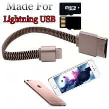 Usb Flash Drive For iphone 7 6s 6 Plus 5 5S ipad Pendrive OTG 8gb 16gb 32gb 64gb Pen drive HD external storage memory usb cable