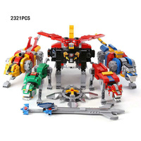 Classic Defender Universe super robot lion Voltron 5in1 building block base with light bricks 21311 toys collection for gifts