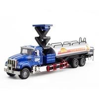 Doppia Cavalli 1:50 bambini giocattoli camion del serbatoio dell'olio in metallo toy cars modello fonde sotto pressione classic car miniature giocattoli per i bambini regali