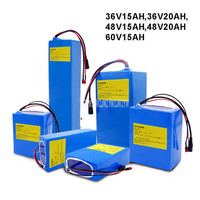 Wheelchair Lawn Mower Tricycle Ebike Electric Bicycle Battery 36V 15AH/20AH 48V 15AH/20AH 60V 15AH Fit For Less Than 1200W Motor