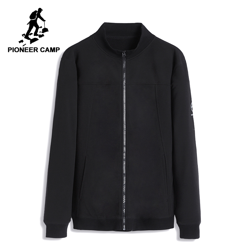 Pioneer camp new mens jackets coat brand clothing casual bomber jacket men fashion quality solid outerwear coats male AJK801051