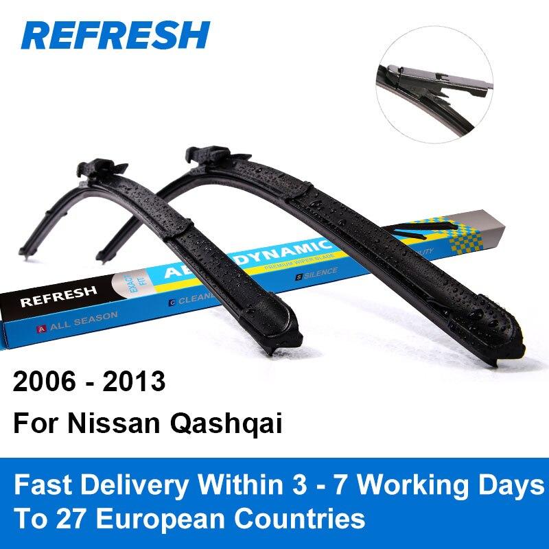 Refresh Wiper Blades for Nissan Qashqai J10 24 15 Fit Pinch Tab Arms 2006 2007 2008 2009 2010 2011 2012 2013