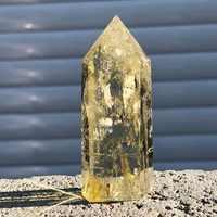 Citrine naturelle cristal quartz obélisque baguette point de guérison