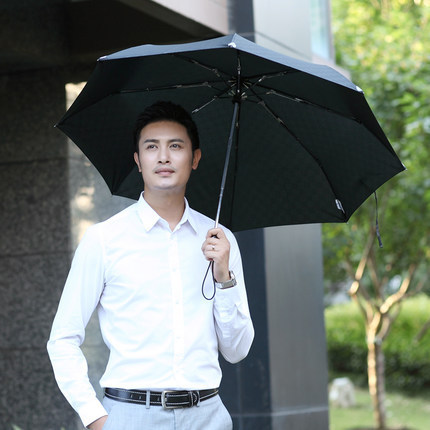 luminous clear print umbrella man umbrella folding umbrella auto