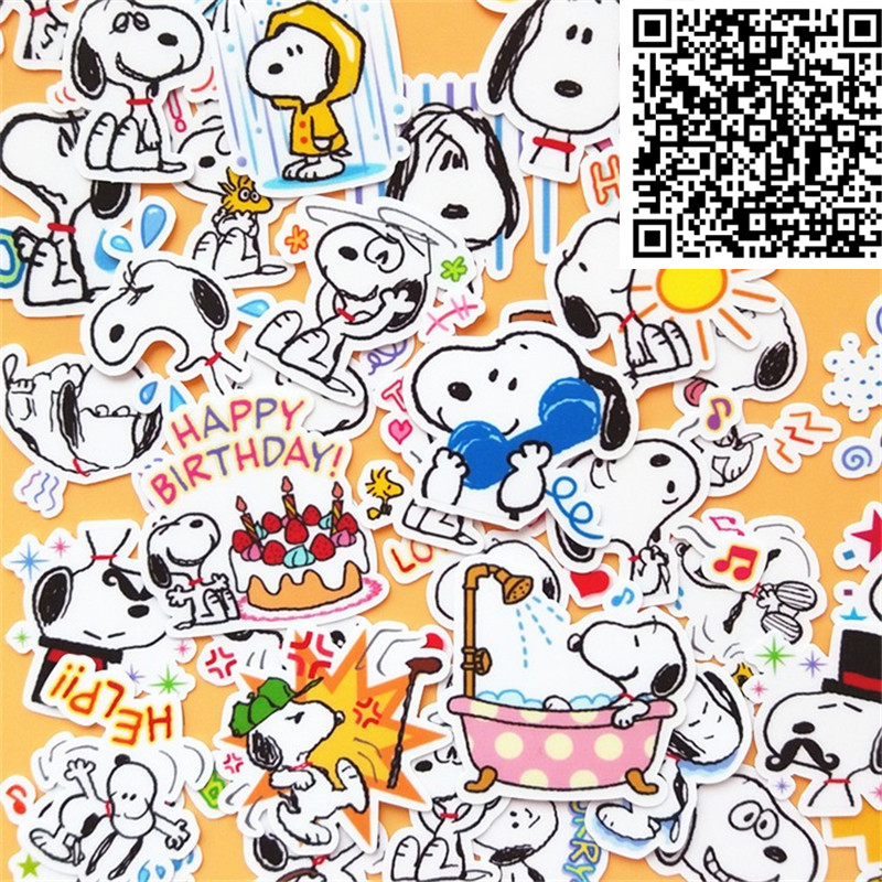 40 Pcs Rogue Dog Daily Cartoon Stickers For  Phone Decorative Waterproof Sticker Scrapbooking For Laptop Children