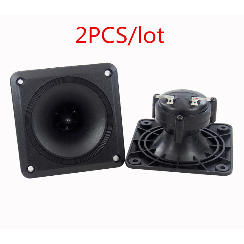 Finlemho 2PC Altavoces Piezoeléctricos Tweeter 88 * 88 MM Cerámica Piezo Treble Para Home Theater HiFi Estantería Sistema de DJ