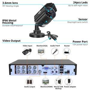 Image 4 - Hiseeu système de caméra de vidéosurveillance 8CH 5mp DVR, 4 pièces, Kit de vidéosurveillance dextérieur, étanche, jour et nuit, bricolage