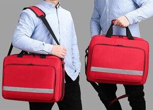 Image 3 - Große Größe Leere Erste Hilfe Tasche Medizinische medizinische Arzt Outdoor Besuchen Tasche Erste Hilfe Notfall Ausrüstung Stoage