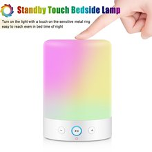 Bluetooth Speaker, Dimmable Warm White Table Touch Bedside Lamp
