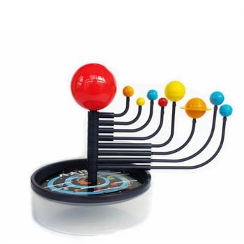 Planetarium układ słoneczny osiem planet dziewięć planet zabawki modele DIY montaż niebiańskich instrumentów operacyjnych geografia tanie i dobre opinie Geografii Eight planets learning instrument 8701 plastic 1 PC