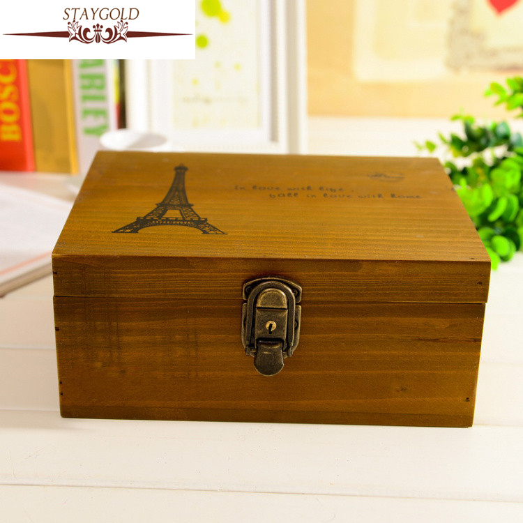 Zakka Wood Box Vintage Retro Classic Controller Wooden Box Secret Storage  Box Home Decoration Accessories  In Storage Boxes U0026 Bins From Home U0026 Garden  On ...