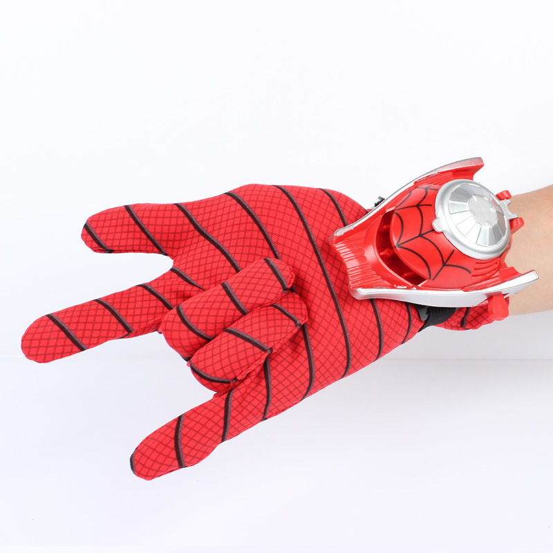 1PC 24cm children kids suitable Spiderman Cosplay Costume, Spider-man glove Spider man launchers toy emitter with gift box manguera expandible