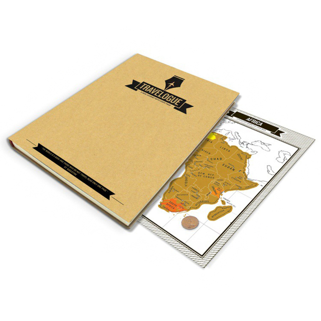 Tourist Journal with Mini Scratch World Maps 9 pcs/Set