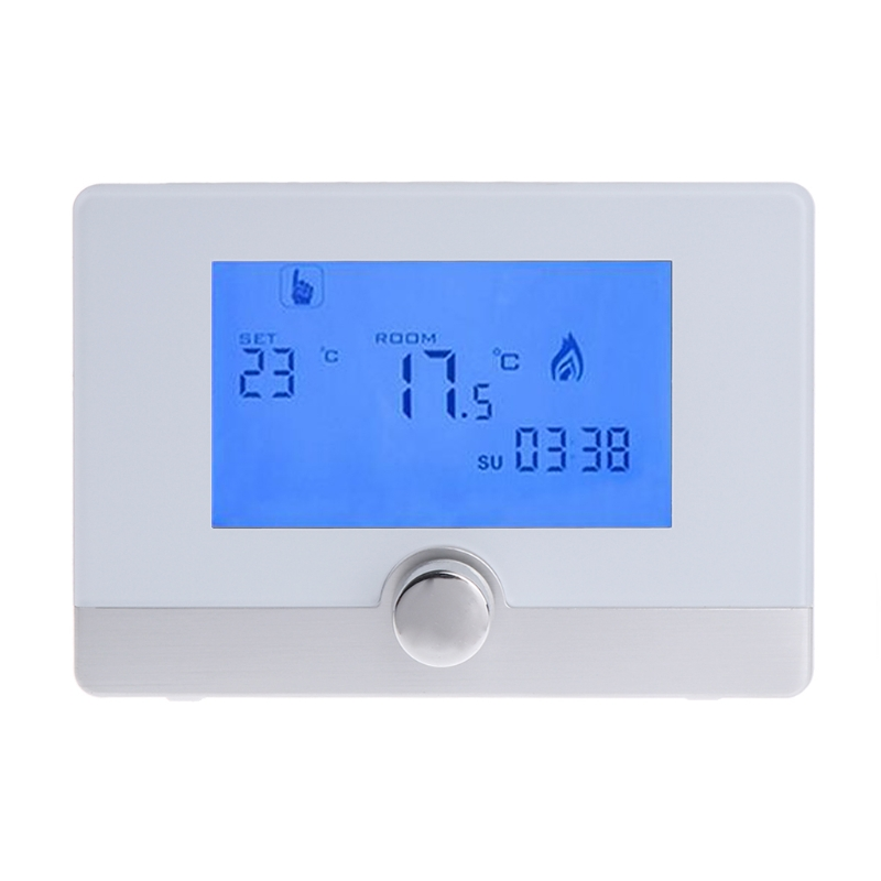 Programmable Digital Room Thermostat for Wall-hung Gas Boiler Heating System 5A #0616 gas boiler thermostat wall hung boiler heating thermostat programmable gas boiler thermostat for room 3a