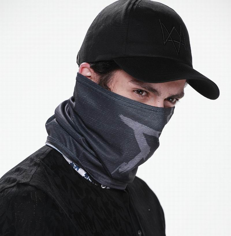 Watch Dogs Aiden Pearce MASK Cap Cotton Hat Set Costume Cosplay Hat Mens 6 Panel Tactique