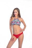 A187 Brazilian Cut Bikinis Halter Women S 2017 Maios Beach Indoor Swimsuit Two Pieces Large Size