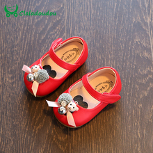 Claladoudou 11.5-15.5CM Baby Girl Shoes Red Pink Soft Sole Baby Leather Peal Flower Cute Toddler Girls Princess Dress Shoes(China)