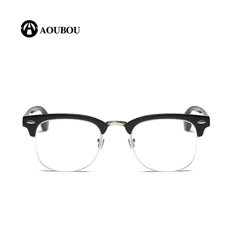 AOUBOU Brand Of High-Quality Alloy + PC Frame Classic Retro Fashion Half-Frame Men And Women HD lenses Reading Glasses AB8008