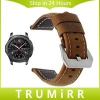 22mm Genuine Leather Strap For Samsung Gear S3 Classic Frontier Smart Watch Band Stainless Steel Clasp