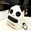 Alta calidad Panda Mochila Bolso Lindo Monedero Animal Suave Oídos Peludos Pompones Cremalleras Bolsa