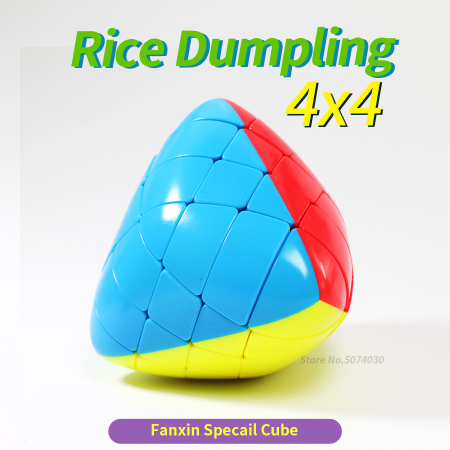Fanxin Rice Dumpling 4x4x4 Mastermorphix 4x4 Stickerless Magic Cubes Puzzle Toy  Multicolor Special Hight Difficult