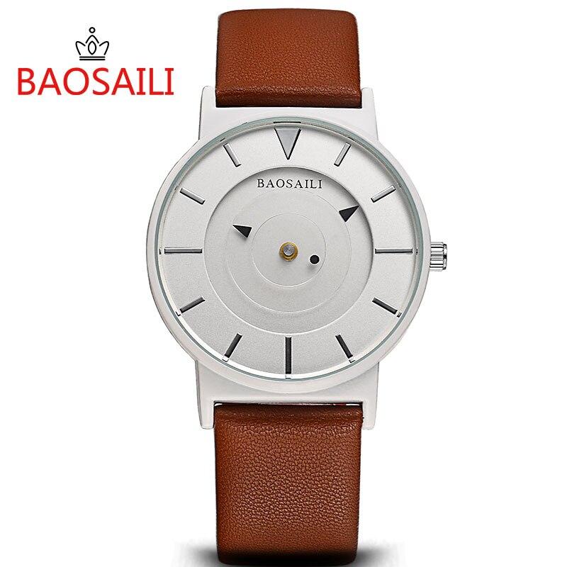 Baosaili Top Brand Casual Classic Slim Mens Watches Brand Luxury Leather Men Military Wrist Watch Men Sport Quartz-Watch BS-1022 247 classic leather