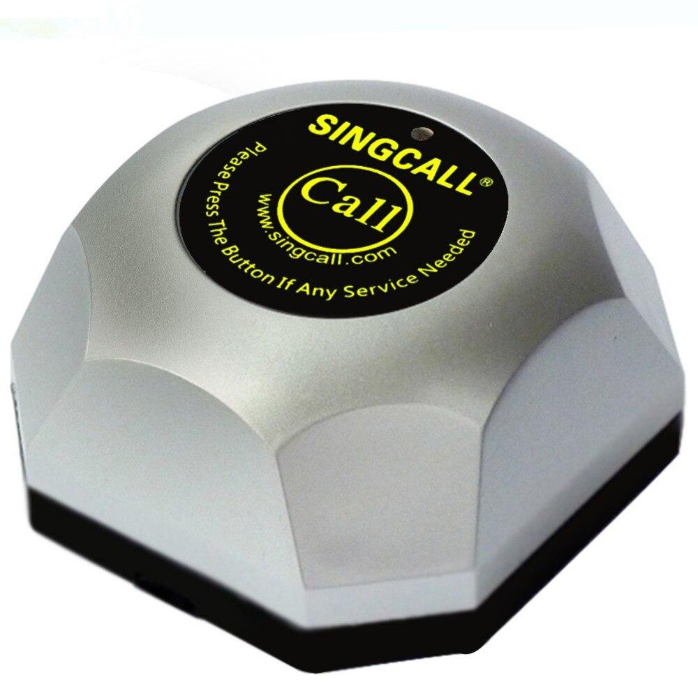 SINGCALL Беспроводная система вызова для ресторана, 20 шт. Серебряные Колокольчики и 1 шт. дисплей