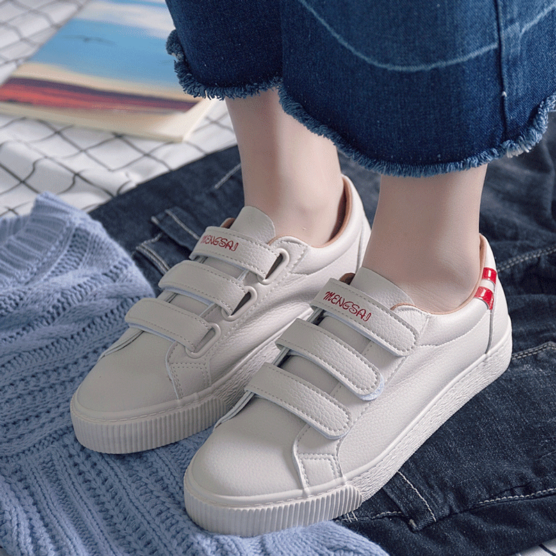 2017autumn new fashion women shoes casual high platform hole PU leather striped simple women casual white shoes sneakers