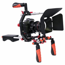 5 in 1 DSLR Rig Kit C shape Stabilizer Shoulder Mount Rig/Matte Box/Follow Focus/Dslr Cage for Canon Nikon Sony DSLR Camera Vide