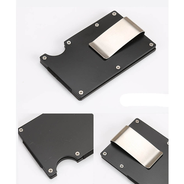 Aelicy Metal Mini Money Clip Brand Fashion Black White Credit Card ID Holder Business Anti-chief Wallet money clip wallet 2019 A 1