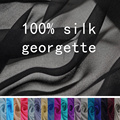 100% Silk fabric georgette,width:105-112cm,thickness:7-10mm,sell by 2m