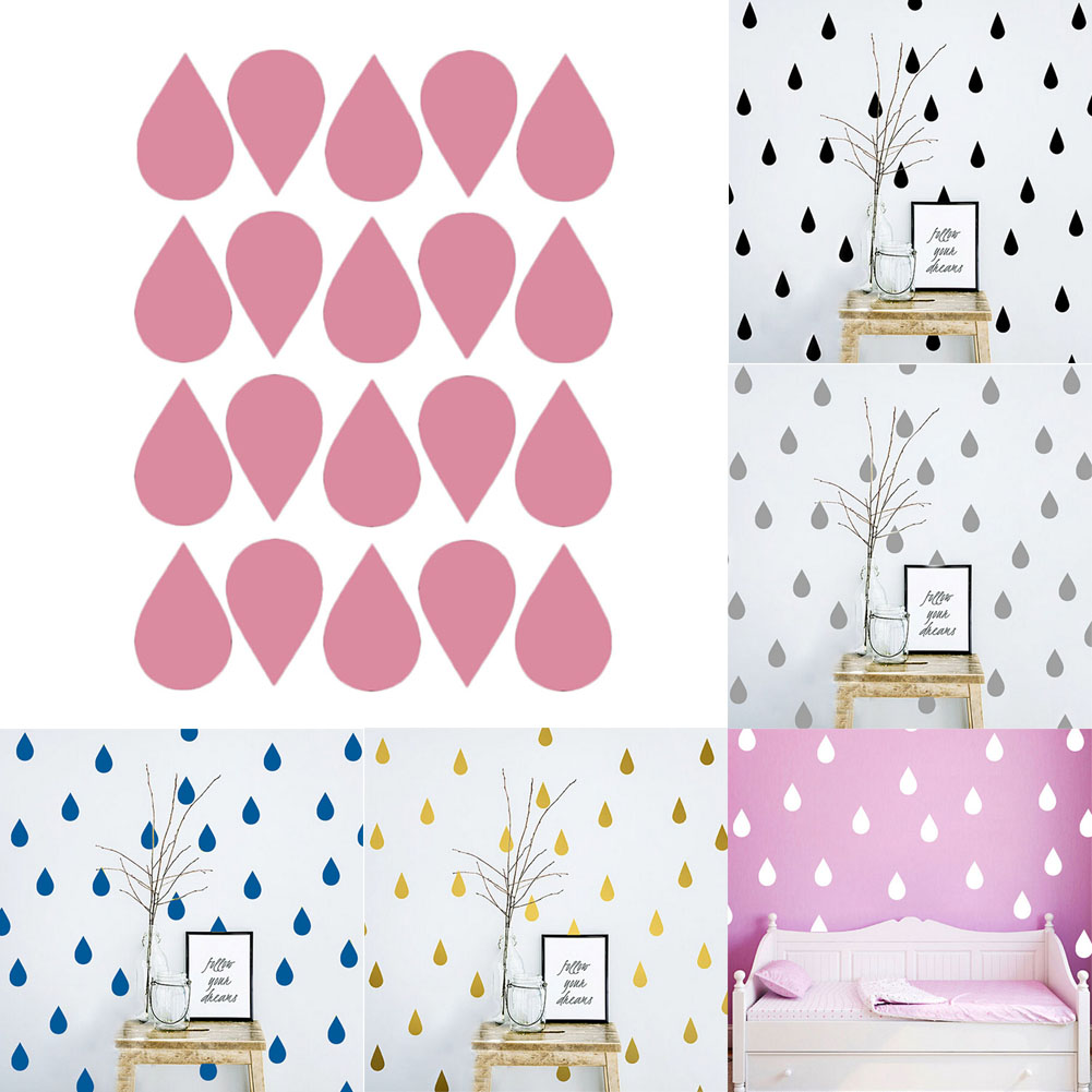 1pcs! New Arrival Raindrop Wall Stickers Vinyls Home Decor Kid Decals Wallpaper Stickers Art Mural 2017 Wall Stickers(China)