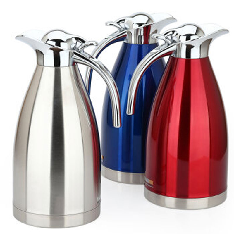 2000ml European Thermal Water Pot Tea Coffee Thermos Stainless Steel Vacuum Flasks Kettle Teapot Flask In Thermoses