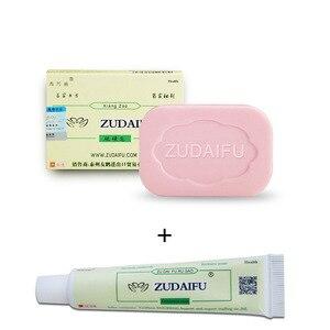 Zudaifu azufre jabón Reparación de la piel de acné, psoriasis seborrea Eczema Anti hongo baño blanqueamiento champú