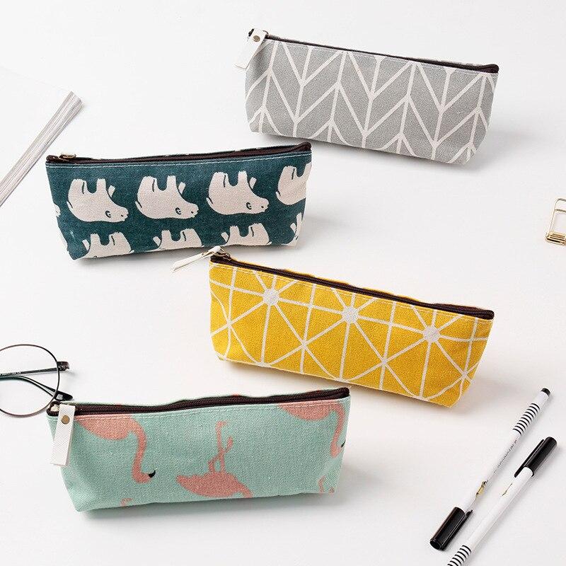 Harphia Sweet Pencil Box Zipper Pen Case Flamingo  Bag Whale Polar Bear Pattern  17 Designs