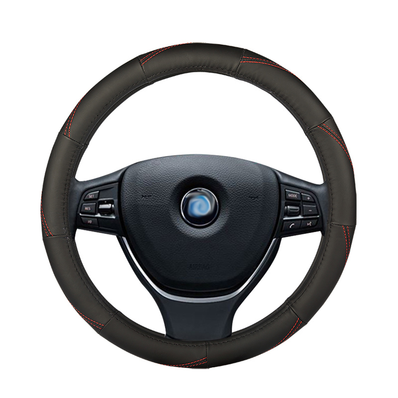 Car steering <font><b>wheel</b></font> cover Interior Accessories for mercedes benz class e w210 t210 w211 t211 w212 w213 <font><b>w124</b></font> glc 300 image