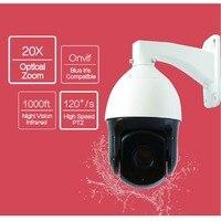 601-D20X 2MP 1080 P HD 20 zoom Óptico IR luz night vision outdoor CCTV PTZ de Alta Velocidade Cúpula De Câmera De Segurança alumínio Houseing