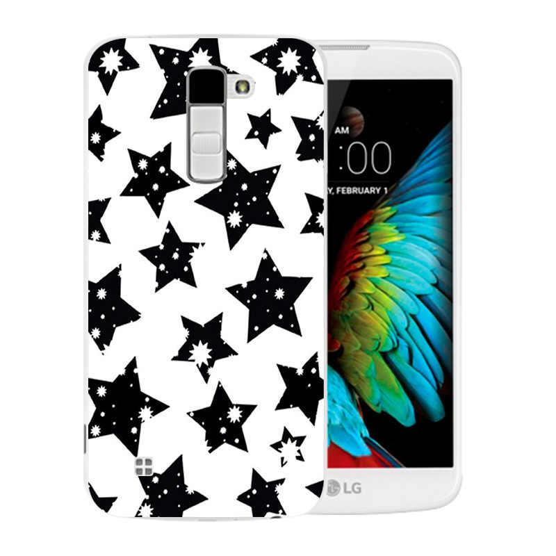 Di lusso Flessibile Per LG K10 LTE K420N K430 K430ds F670 Molle di TPU caso Della Copertura Posteriore Variopinta Modello di Borsa per LG K10 k410 K420N Telefono Custodie