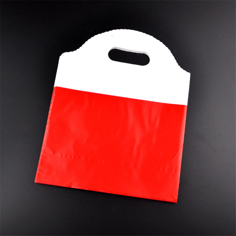 Wholesale 100pcs/lot 25x29.5cm red plastic gift bag cosmetics boutique jewelry gift pack ...