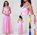 Zj0002 бусины кристалл элегантный длинная розовый белый королевский синий фиолетовый шифон ну вечеринку официальный вечернее платье пром платье