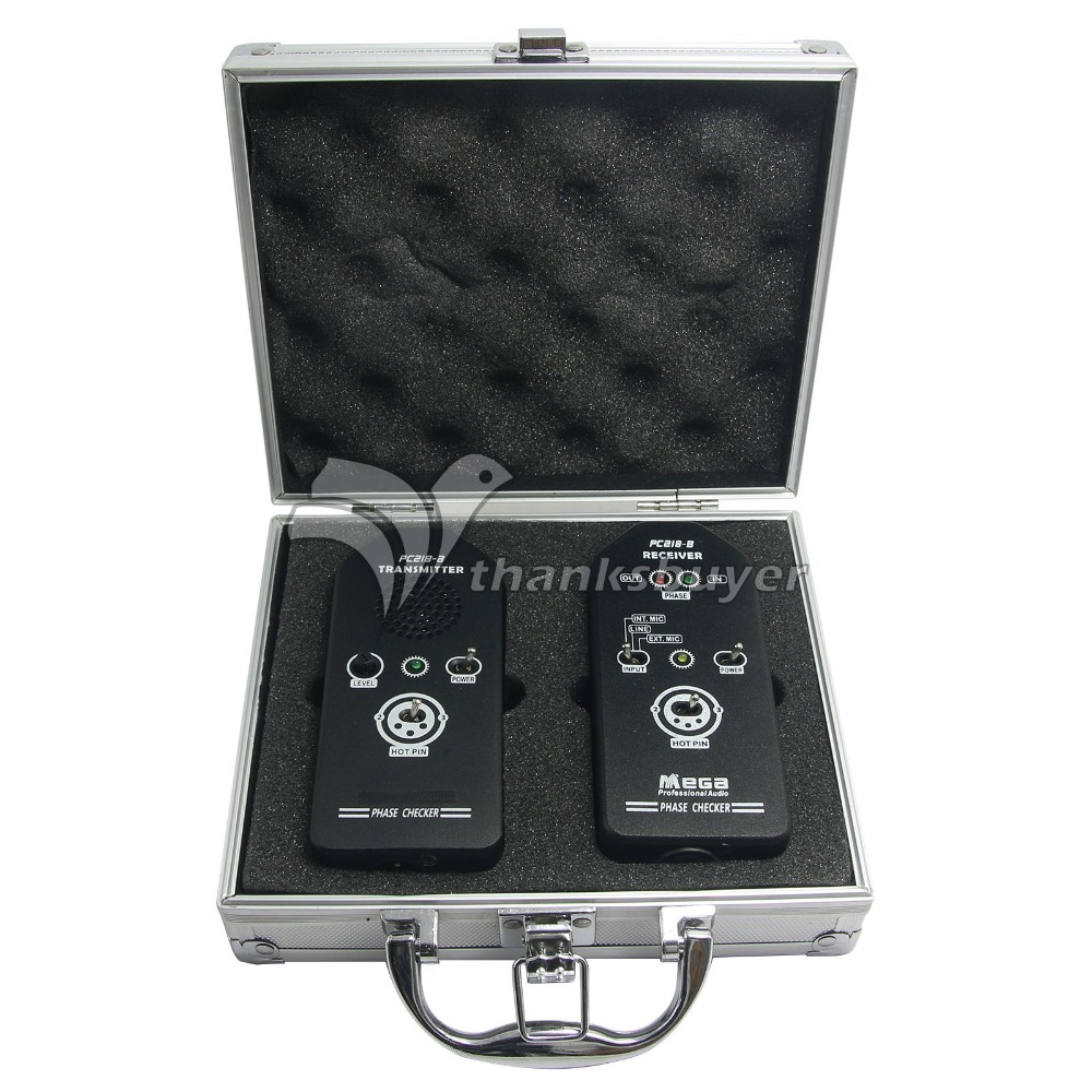 PC218A Aluminum Alloy Shell Phase Polarity Tester Checker Audio Speaker Microphone Sound Phase Testing Detector