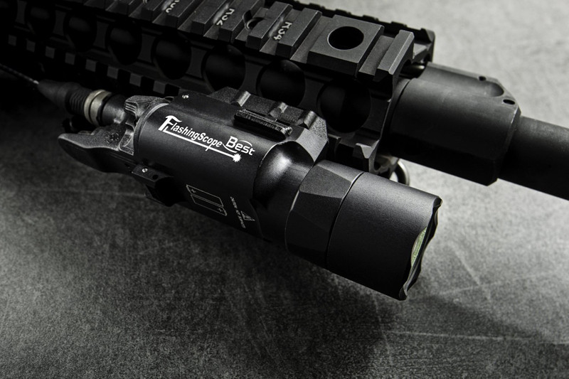 Pistola Revólver Arma Lanterna Piscando LED White