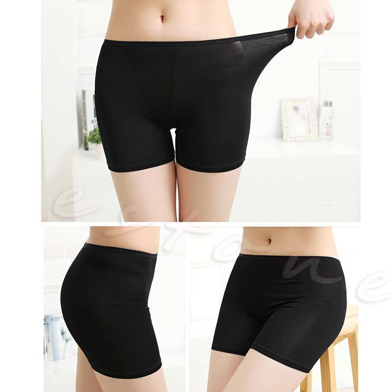 2018 Women's Dancing Shorts Elastic Pants Safety Underwear Ladies Soft New Spandex Cotton Seamless Basic Plain Solid Tight