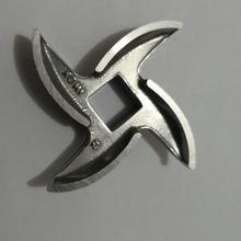 NO.12 Мясорубка части Качество нержавеющая сталь круглый крест лезвие квадратное центральное отверстие 12X12 мм