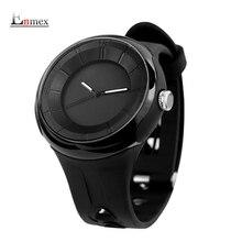 2017 hombres manos Luminosas Enmex regalo creativo diseño de código de tiempo reloj de pulsera impermeable ligero de los deportes de moda casual relojes de cuarzo