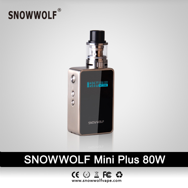 100% original snowwolf mini plus 80w kit Built-in 3000mah battery Accurate temperature sensing by TCR  5.0W - 80W mx3 battery 3 battery m351 m355 phone b030 original built in battery